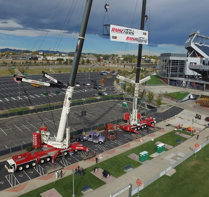 Denver Stadium Cranes